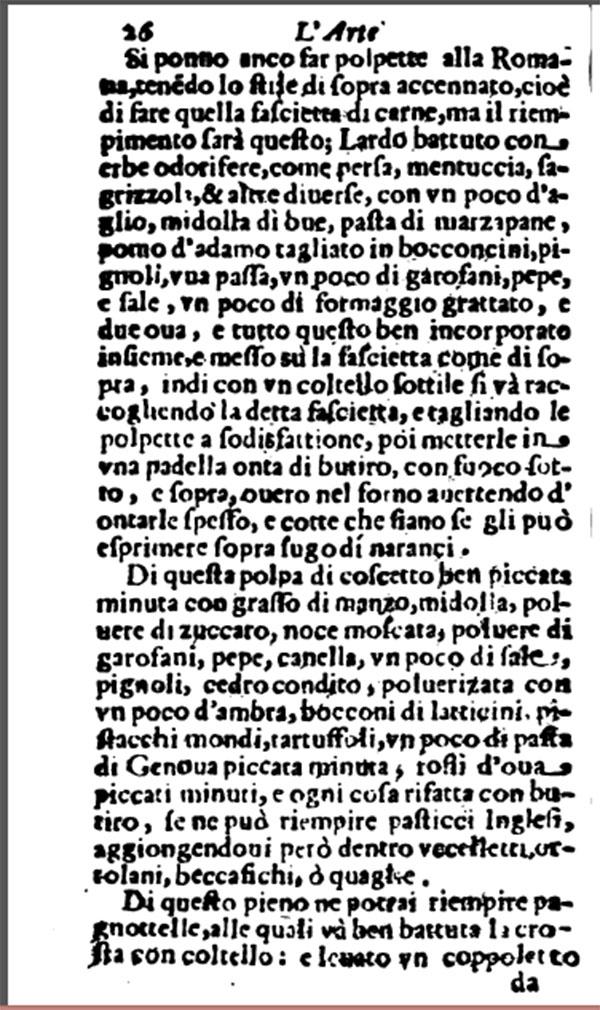 polpette alla romana Bartolomeo Stefani