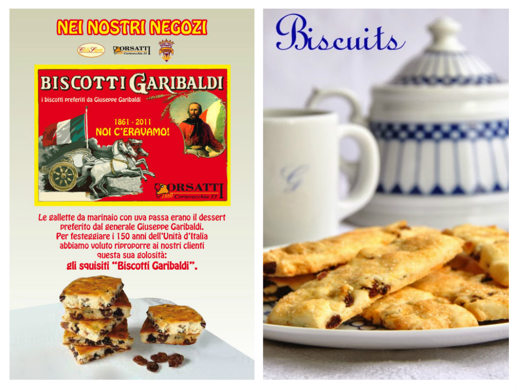 Garibaldi bisquits collage