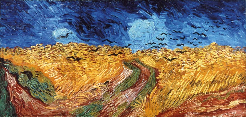 Gogh, Vincent van (1853-1890): Wheatfield with Crows, 1890. Amsterdam, Van Gogh Museum*** Permission for usage must be provided in writing from Scala. ***