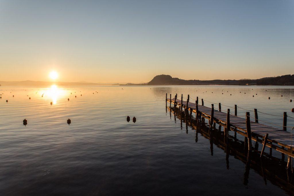Un lago dalle acque pescose