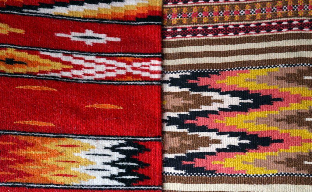 esempio di grande artigianato locale, i tappeti di Nule