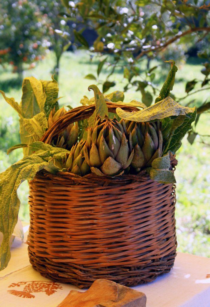 carciofo spinoso dop in cesto