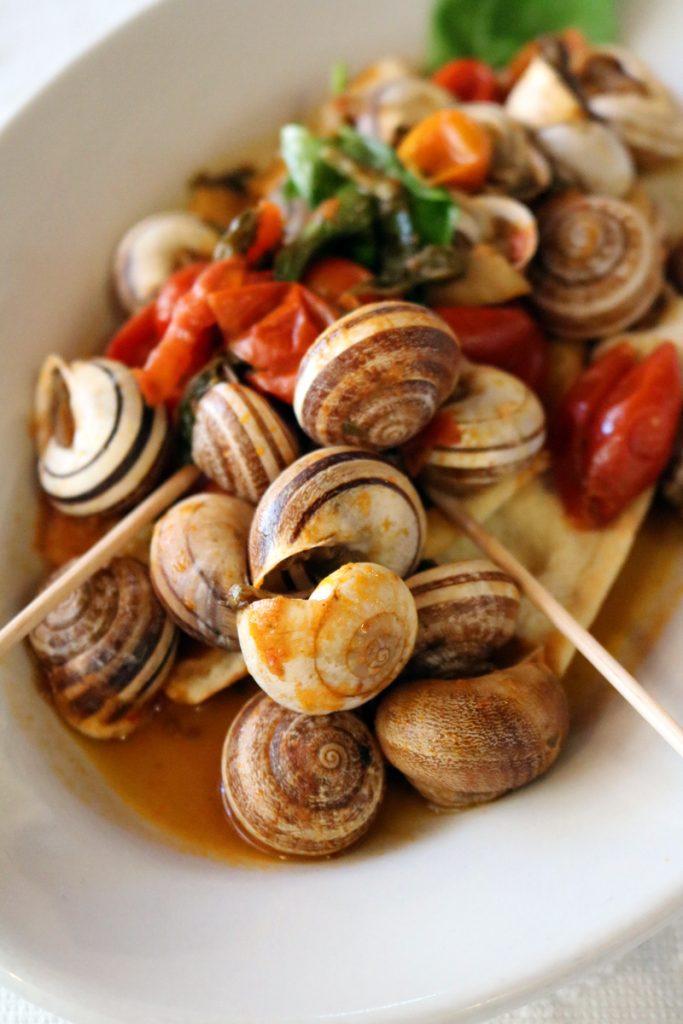 lumache piatto tipico a Sassari