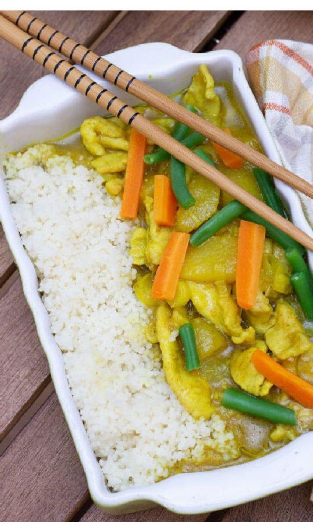 Pollo al curry e mango