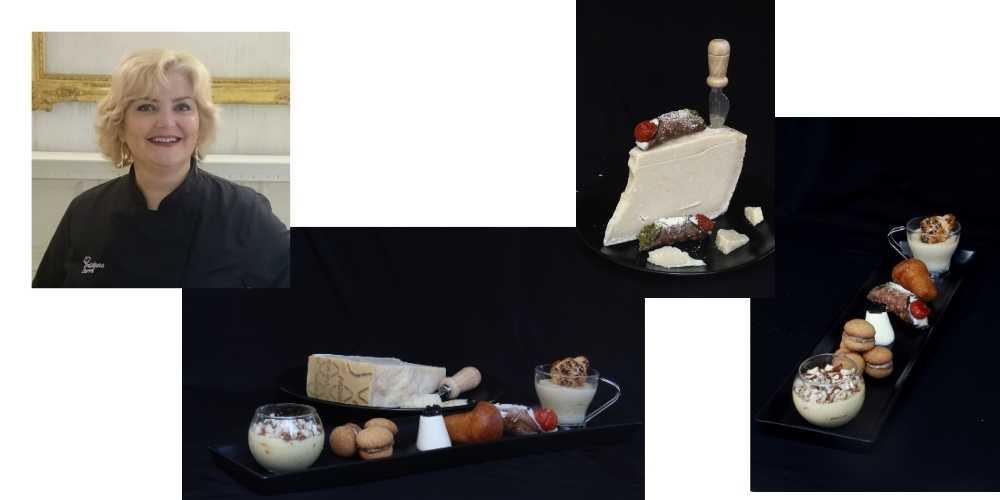 Cristiana Curri e i suoi finti dolci preparati con il grana padano